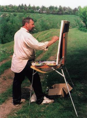Victor Yefimenko at Work, Summer 1999